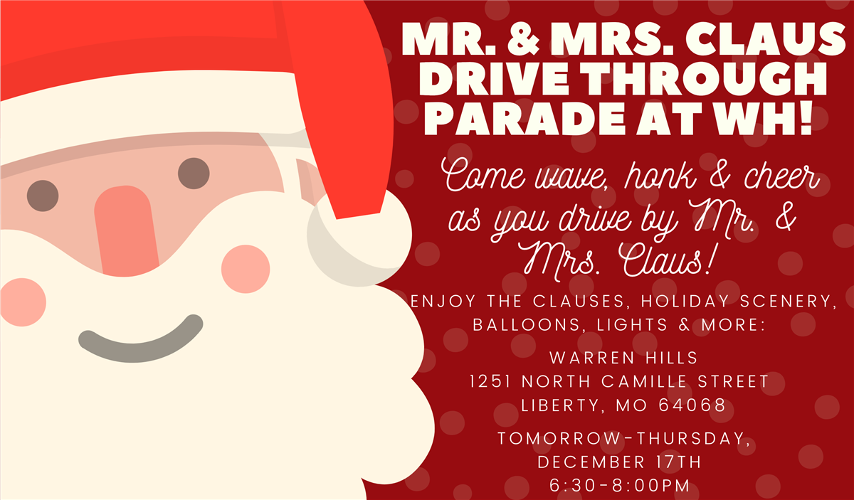 Claus Drive Through Parade at Warren Hills